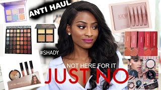 ANTI HAUL- MAKEUP I REFUSE TO BUY!- HUDA BEAUTY, KYLIE COSMETICS, ABH and more!!