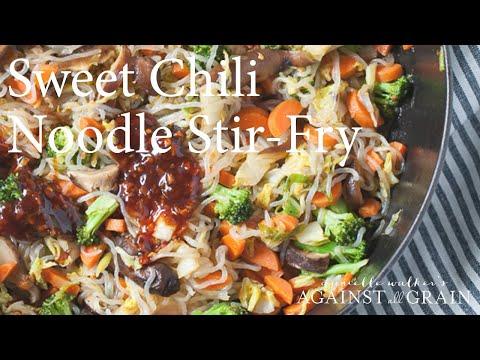 Gluten Free Sweet Chili Noodle Stir Fry Recipe | Danielle Walker