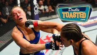 RONDA ROUSEY LOSES TO AMANDA NUNES IN 48 SECONDS - Double Toasted Highlight
