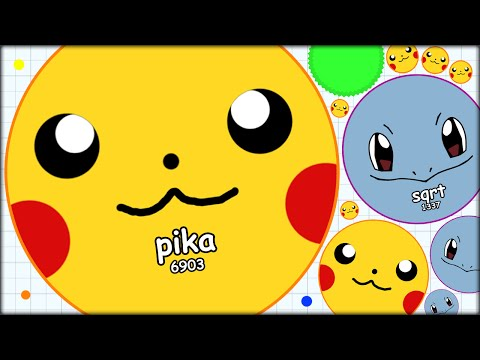 PIKACHU AND SQUIRTLE ATTACK THE AGARIO LEADERBOARDS (THE MOST ADDICTIVE GAME EVER - AGAR.IO #8)