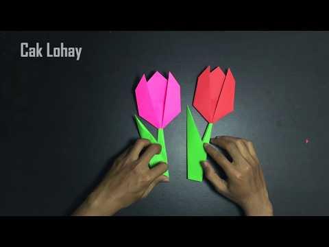 Origami Bunga Tulip: Cara Membuat Origami Bunga Tulip Mudah dan Simpel