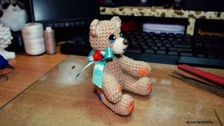 Амигуруми | Мишка | Тедди | Игрушка | МК | Мастер-класс | Схема | Творчество