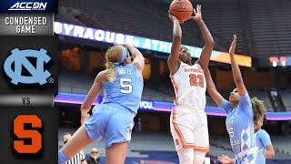 North Carolina vs. Syracuse Condensed Game | 2020-21 ACC Women's Basketball