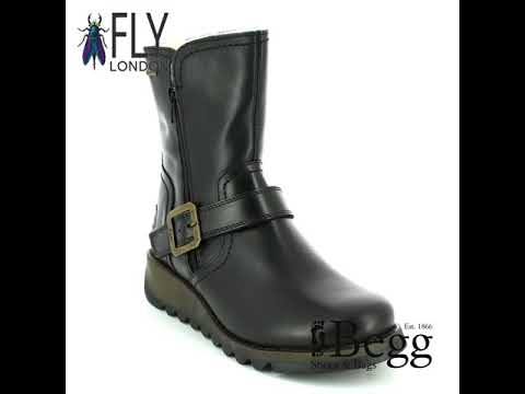 96539d85 Fly London Seku Gore-tex P144057-000 Black ankle boots - YouTube