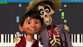 Miguel - Remember Me  - Piano Tutorial - Disney's Coco Soundtrack