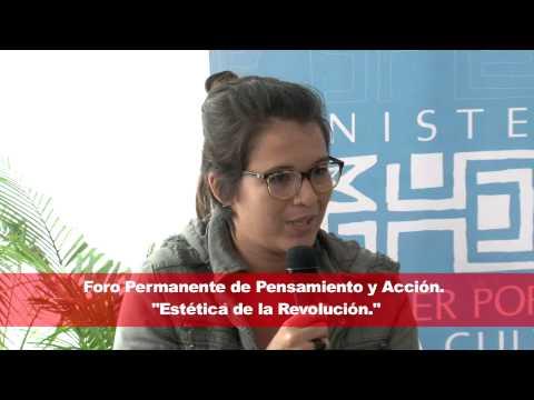 Amarilis Hidalgo, colectivo Gente Chavista. Foro Permanente de Pensamiento y Acción