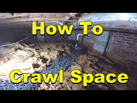 Diy How To Remove Water From Crawl Space Youtube