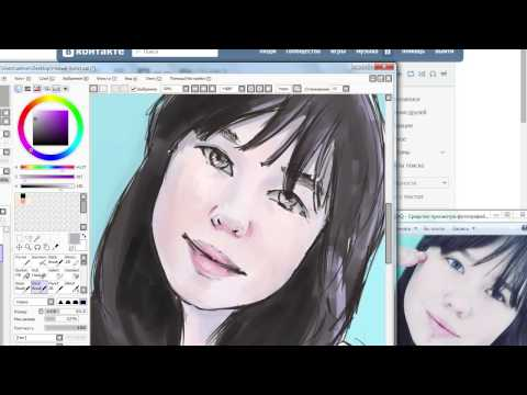 Снова рисую на планшете. программа SAI