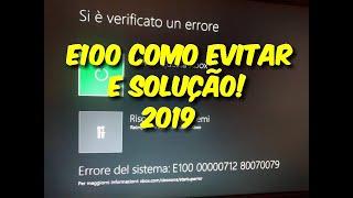 26/09/2019 Erro E100 do xbox one. Como evitar E100 e a solução.