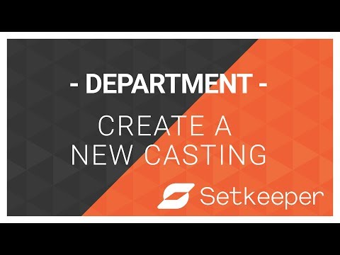 Department - Create or import casting