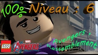 LEGO MARVEL AVENGERS 100% Niveau 6 Avengers ,Rassemblement