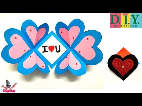 Valentine's Day card idea | DIY pop-up Card | Envelope card| Paper craft | Card making | Heart card