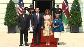 President Kenyatta received by US President Donald Trump at the White House