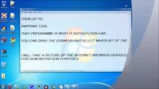 How to take a screenshot Windows 7