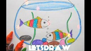 РИСУНКИ ДЛЯ ДЕТЕЙ #4| КАК НАРИСОВАТЬ АКВАРИУМ(В этом видео я покажу вам как рисовать аквариум с рыбками. Спасибо за просмотр! Подпишись на канал и смот..., 2017-01-27T06:01:30.000Z)