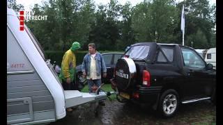 Campinggasten verlaten regio om natte weer