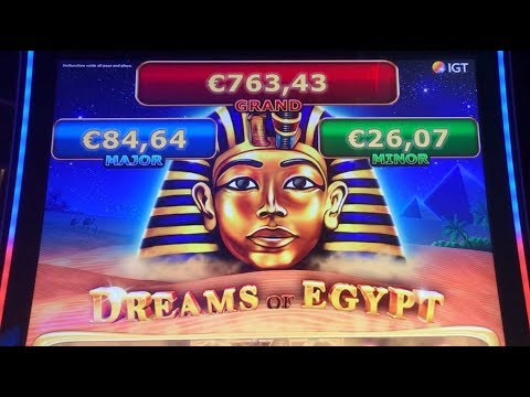 ++ Jackpot ++ Handpay ++ DREAMS OF EGYPT - Magnificent Win - IGT Slot Machine