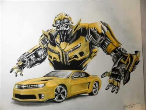 Car Transformer Live Wallpaper Tf3 Bumblebee Camaro Drawing Youtube