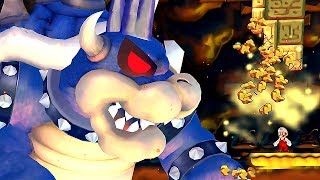 New Super Mario Wii Final Boss Evil Dark Bowser & Ending | Mario Vs. Super Dark Bowser