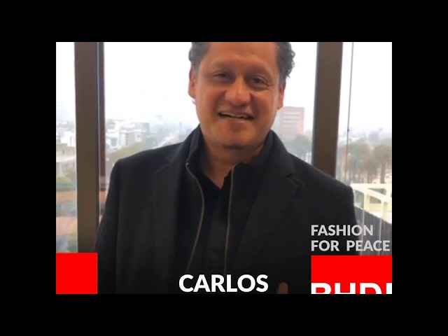 Watch Carlos Benitez's message on Fashion for Peace