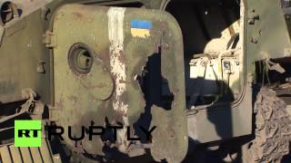 Ukraine: Shattered armour litters battlefield Debaltsevo