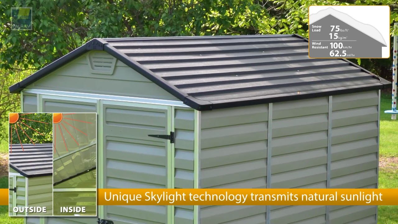 Palram Skylight Shed Green Your Garden Storage Space