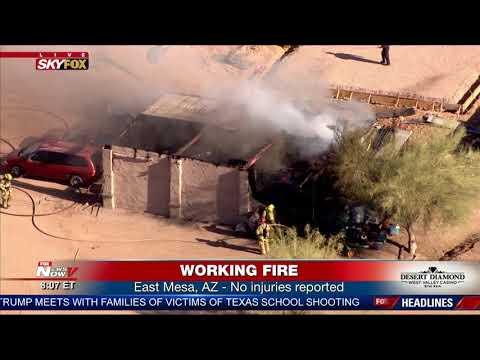 BREAKING: Rural Metro Fire Responds To East Mesa Blaze (FNN)