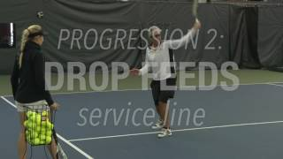 tennis lesson one handed backhand technique drills and tip
