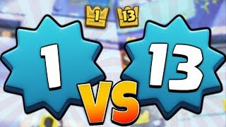 LEVEL 1 PLAYER BEATS LEVEL 13 PLAYER?! WHAT!? | Clash Royale | HIGH LEVEL LVL 1 GAMEPLAY!