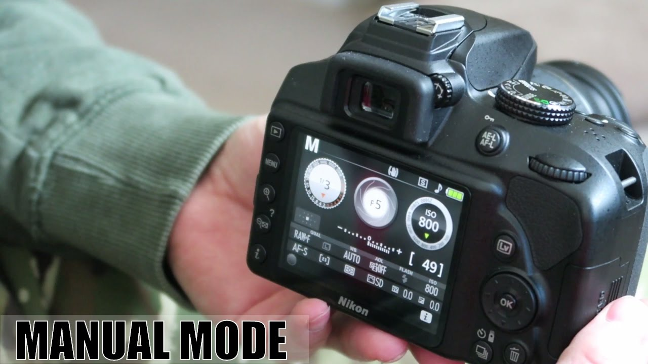 how to use manual mode on a nikon d3400 youtube rh youtube com