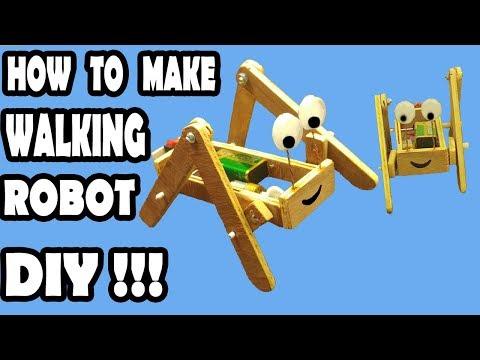 DIY - DC MOTOR ROBOT Walking Robot - HOW TO MAKE