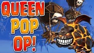 TH9 QUEEN POP UPDATE OP! Top LOW HERO War Attack | Clash of Clans