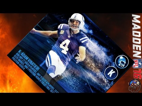 PH ADAM VINATIERI NOW IN MUT 16 FOR MUT 16 ADDICTS ONLY! MUT 16 REVIEW! | Madden 16 Ultimate Team