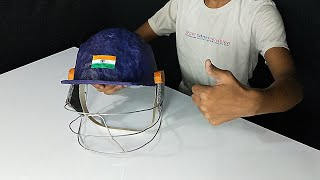 How to make cricket🏏 helmet at home from basic meterials