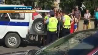 В Ростове на Дону четыре патрульных экипажа с трудом скрутили неадекватного дебошира