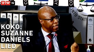 Former Eskom CEO Matshela Koko has told the commission of inquiry into state capture that former Eskom legal head Suzanne Daniels had lied to the commission many times. Koko returned to the hot seat on 1 March 2020.