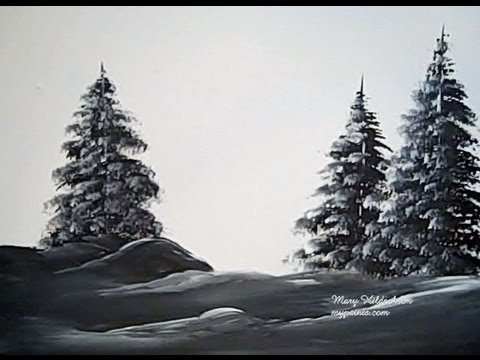 How To Paint A Fir Tree With Acrylics