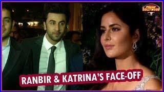 Ranbir Kapoor - Katrina Kaif's Face -off At Virat–Anushka's Reception   Bollywood News