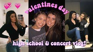 high school & concert vlog on valentines day! + hs grwm