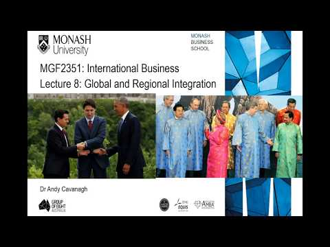 Week 8- Introduction To Global & Regional Integration