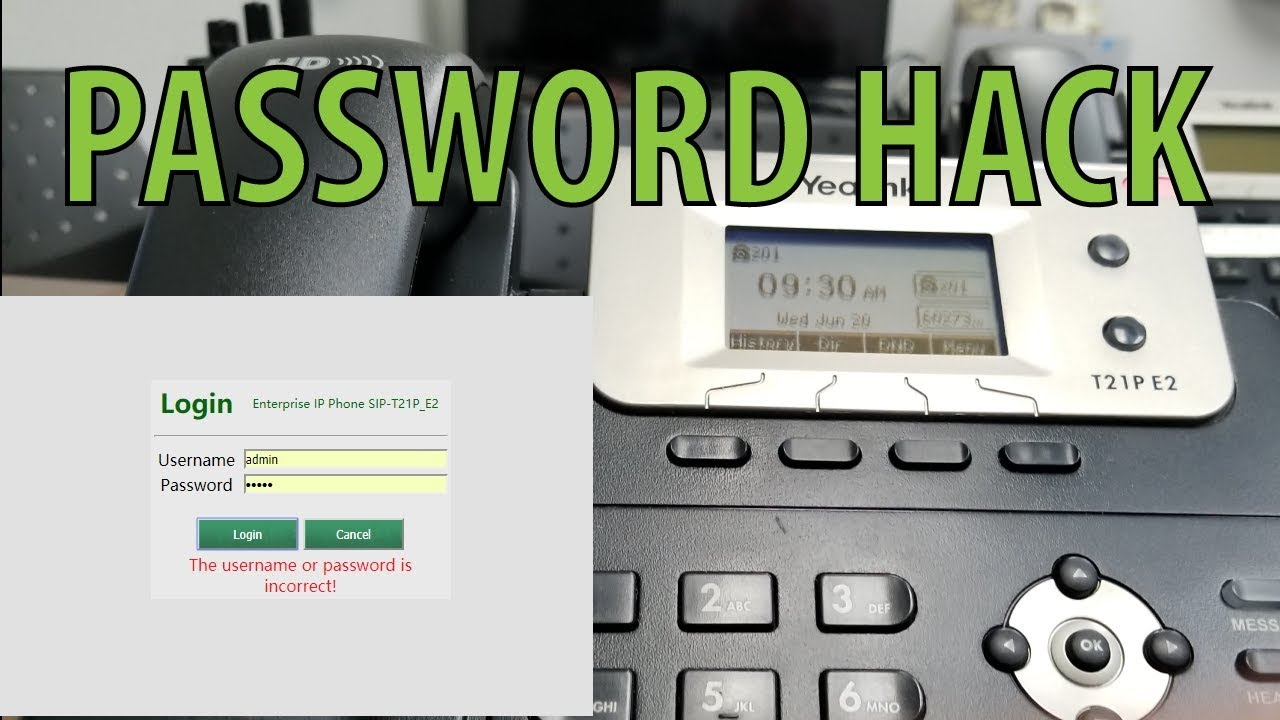 Yealink Sip Phone Reset Factory Password - Hack - Locked Out