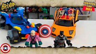 Juguetes de Batman rescata coche de Black Widow (VIDEOS PARA NIÑOS de 2 a 3 años) Videos de Juguetes