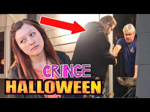 Trick Or Treating A Day Early! Grown Man Embarrasses Wife Begging For Candy