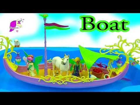 Thumbnail: Schleich Horse Rides On Playmobil Fairies Fairy Boat - Sink Or Float Water Play Video