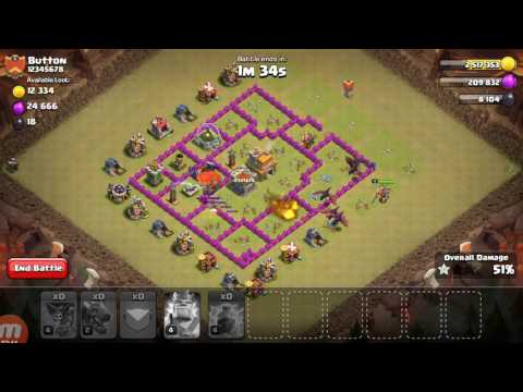 How to attack  in clash of clans.    Simple way to atrack and gst 100%