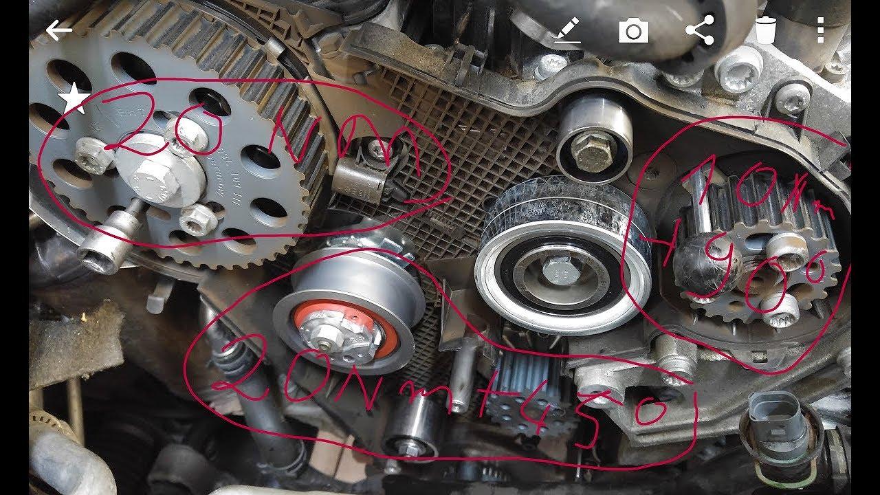 Wymiana rozrządu VW 20 tdi TIMING BELT REPLACEMENT 20