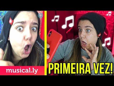 MINHA PRIMEIRA VEZ NO MUSICAL.LY!
