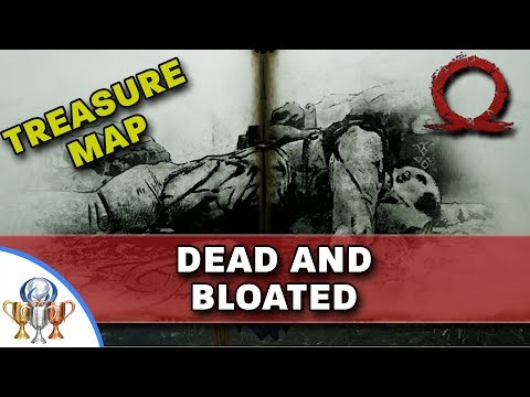 God of War Treasure Map - Dead and Bloated - Map and Dig Spot Locations