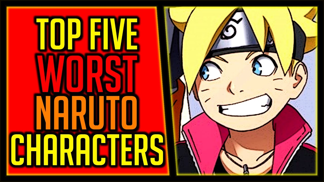 top 5 least favorite naruto characters youtube