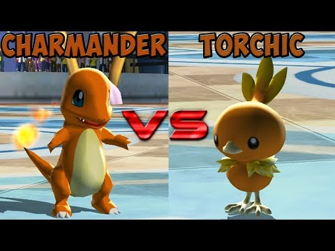 Pokemon battle revolution - Charmander vs Torchic